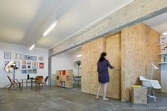 CASTROFERRO ARQUITECTOS Creative Studio, Divider, Interior Design, Room, Furniture, Home Decor, Home, Studio Apartment Design, Architects