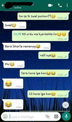 ye bhi sahi hai yrr...... Funny Texts Jokes, Text Jokes, Sarcastic Jokes, Very Funny Jokes, Super Funny Memes, Cute Texts, Urdu Funny Quotes, Cute Funny Quotes, Bff Quotes