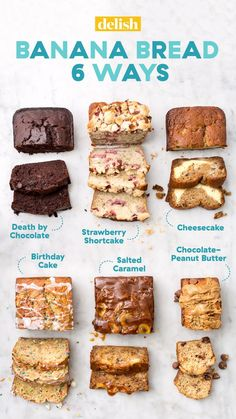 Try one of our 50 most delicious banana bread recipes. You will be born … – Try one of our 50 most delicious banana bread recipes. You will love birthday cake … – – - Try one of our 50 most delicious banana bread recipes. You will be born . Just Desserts, Delicious Desserts, Yummy Food, Delicious Chocolate, Flourless Chocolate, No Sugar Desserts, Flourless Desserts, Dessert Bread, Dessert Bars