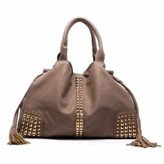 *** New Style *** High Polish Gold-Tone Metal Hardware with Magnetic Snap & Drawstring Closure.