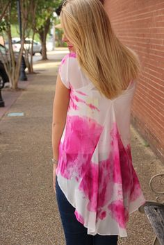 Take a look at our Fuschia Water Color Tunic! Go out into the world in this stylish top! Sheer with a tie dye pattern, you are sure to be turning heads. Easy to dress up or down, this top will be a lightweight summer favorite.    97% Polyester, 3% Silk    Hand wash cold, hang or line dry, iron low heat, do not bleach | Shop this product here: spreesy.com/Epiphany/77 | Shop all of our products at http://spreesy.com/Epiphany    | Pinterest selling powered by Spreesy.com