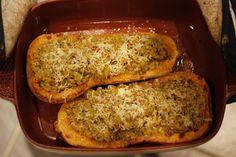 Quinoa stuffed butternut squash