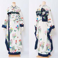 Pin by bip on 服飾 Kimono Japan, Yukata Kimono, Japanese Kimono, Fashion Moda, Kimono Fashion, Lolita Fashion, Fashion Outfits, Modern Kimono, Kimono Design