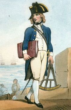 1780 england marine uniform - Midshipman
