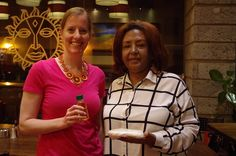 Colleen connects with Nina Tesfamariam #VVLEAD fellow in Nairobi.