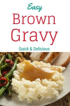 Making your own gravy is just as quick as packaged, but so much better for you! After you taste your own gravy you might not go back. Here is a recipe to add a little but of flavor to your already yummy potatoes or rice. Great with any beef dish as well. Let me know what you think! Brown Gravy Recipe Easy, Homemade Brown Gravy, Beef Gravy Recipe, Quick Gravy Recipe, Beef Dishes, Food Dishes, Food Food, Side Dishes, Dyed Hair