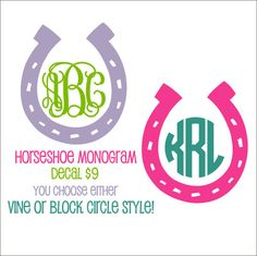 Horseshoe Vinyl Decal Horseshoe Car Decal by CustomVinylbyBridge, $9.00