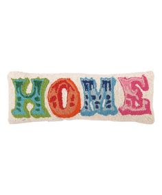 Loving this Colorful 'Home' Throw Pillow on #zulily! #zulilyfinds