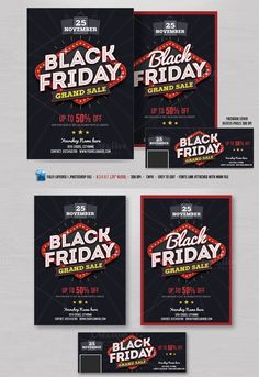 black friday sale flyer fb cover