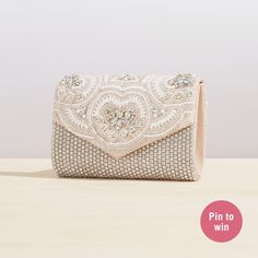Inspired by I do: ALDO's dream wedding contest | Shop our ULSAN clutch now & Click on the picture for the contest details!