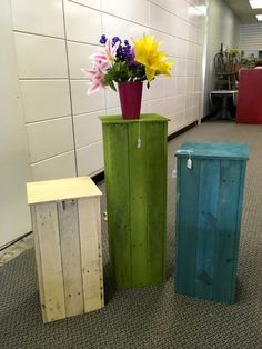 colorful pallet robust pot stands