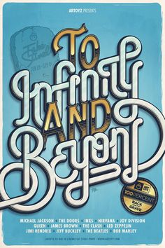 """""""To infinity and beyond"""" - #typography #type"""