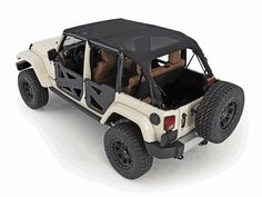 All Things Jeep - Outback Extended Mesh Bikini Top for 4 Door Jeep Wrangler JK Unlimited (2007-2009)
