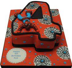 Spiderman Number Cake, Cakes Northampton, Northampton Cakes