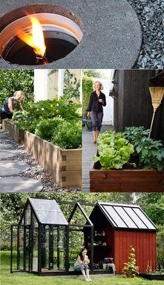 Sten +kant runt pallkrage | Malins trädgård | Pinterest