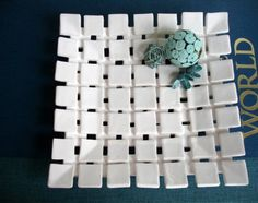 porcelain checker platter $110