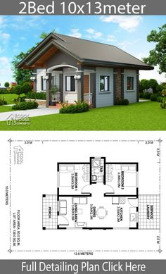 20 Simple House Design Ideas Floor Plans Simple House Design Ideas Floor Plans - Home design plan with 2 bedrooms Home design plan with 3 bedrooms Home Design Plan mit 3 Sc. Little House Plans, My House Plans, House Layout Plans, Modern House Plans, Small House Plans, House Layouts, House Floor Plans, 2 Bedroom House Plans, Cottage Floor Plans