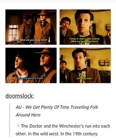 SuperWho. I love they both say it so normally, like just another day at the job.