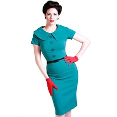 Bettie Page Rita Pencil Dress Turquoise - Jurkjes Melbourne Cup Fashion, Bettie Page, Vintage Inspired Dresses, Wiggle Dress, Pencil Dress, Best Sellers, Pin Up, Bodycon Dress, Short Sleeve Dresses