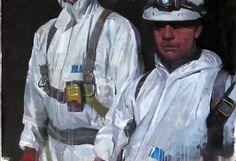 "François Bard, Intervention, 2014, Oil on Paper, 29½"" x 41¾"".  VIA BDGNY.COM"