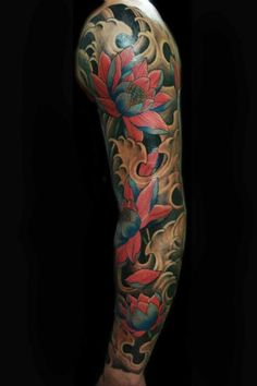 e7ed51ece lotus tattoo | Tumblr Japan Tatoo, Oriental Tattoo, Lotus Flower Tattoo  Design, Japanese
