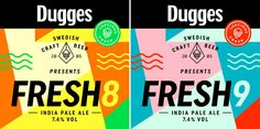Dugges - Fresh8 / Fresh9  http://www.beer-pedia.com/index.php/news/19-global/4850-dugges-fresh8-fresh9  #beerpedia #dugges #ipa #citra #beerblog #beernews #newrelease #newlabel #craftbeer #μπύρα #beer #bier #biere #birra #cerveza #pivo #alus