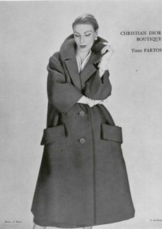 1958 Yves Saint Laurent 4 Christian Dior ( lined in lapin)