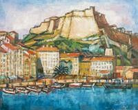 Dominique Leca - le port de Bonifacio