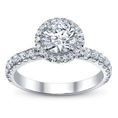 Michael M. 18K White Gold Diamond Engagement Ring