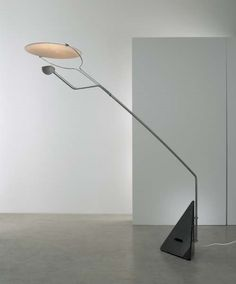 """CLAUDIO SALOCCHI """"Riflessione"""" floor lamp, ca. 1973 Marble, chrome-plated tubular steel, painted metal. Manufactured by Skipper, Italy"""