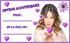 Anniversaire :  Etiquettes invitations Violetta pour anniversaire http://nounoudunord.centerblog.net/4262-etiquettes-invitations-violetta-pour-anniversaire