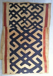 Deliciously graphic, long piece of Kuba Cloth from the Democratic Republic of Congo.