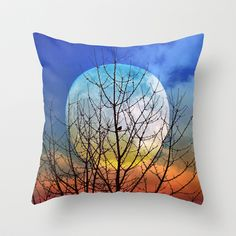 The moonwatcher Throw Pillow by Pirmin Nohr - $20.00