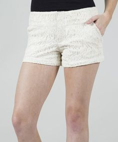 Another great find on #zulily! Ecru Lead Singer Shorts #zulilyfinds $17.99, regular 29.00