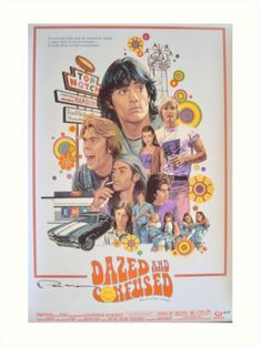 """""""Dazed and Confused """" Art Print by Westifornia Movie Poster Art, Poster Wall, Poster Prints, Art Prints, Teen Posters, Cool Posters, Photo Wall Collage, Picture Wall, Dazed And Confused Movie"""