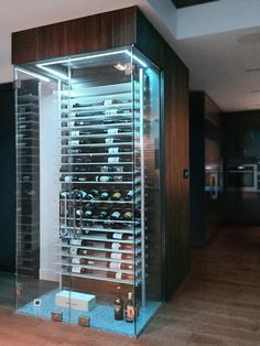 Browse a wide array of beer rack styles, including barrier attached beer racks and unique mauve bottle pockets. Glass Wine Cellar, Home Wine Cellars, Wine Cellar Design, Wine Rack Wall, Wine Wall, Wine Racks, Wine Shelves, Wine Storage, Wine Display