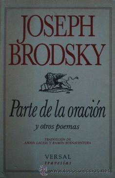 Parte de la oración y otros poemas de Joseph Brodsky