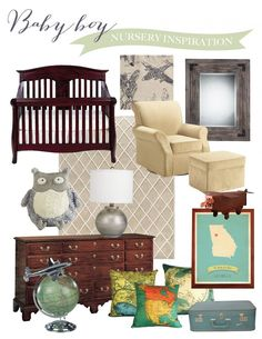 Baby Boy Nursery - Travel - SaraSolomonson.com