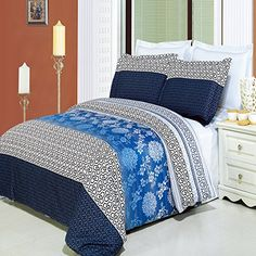 Lydia 3piece King  Calking Comforter Cover DuvetCoverSet 100  Egyptian Cotton 300 TC >>> Check this awesome product by going to the link at the image.