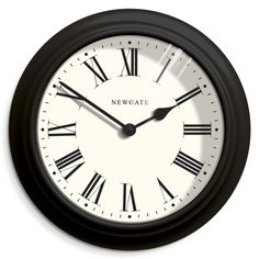 The Nantucket wall clock in black by Newgate Clocks. A large and classic wall clock with decorative moulding adding a traditional touch to the contemporary design. Iconic British design   www.newgateclocks.com  #homeware #decor #interior #homeaccesory