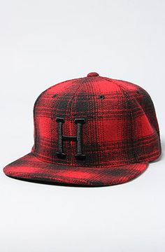 HUF The Big H Logo Starter Hat in Red