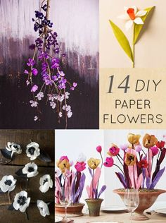 14 Paper Flower DIY Projects #diy #doityourself #paper #flowers #paperflowers #diypaperflowers #diypaperflower #designsponge