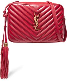 42d103f95f05 Saint Laurent Monogramme Lou Medium Quilted Leather Shoulder Bag - Red  #Lou#Medium#