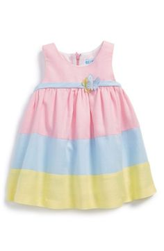 Free shipping and returns on Luli & Me Striped Sleeveless Dress (Baby Girls) at Nordstrom.com. Sweet pastel stripes and butterfly embellishments extend the festive charm of a crisp sleeveless dress.