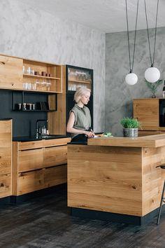 Kitchen Sets, Kitchen Dining, Ikea Home, New House Plans, Design Moderne, Cuisines Design, Küchen Design, Wooden Furniture, Home Bedroom