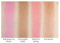 Too Faced 'A few of my fav things' Swatches