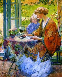 Touch of Color: ~Richard E. Miller ~ American Impressionist artist, 1875-1943