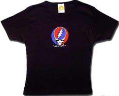 Grateful Dead Juniors T-shirt Steal Your Face Black Fitted Tee Shirt