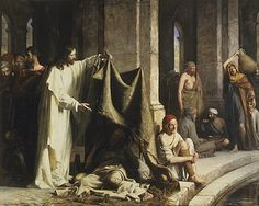 """""""Christ Healing at the Pool of Bethesda"""" by Carl Heinrich Bloch"""