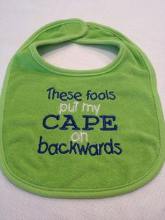 This must have been what my boys were thinking as babies.